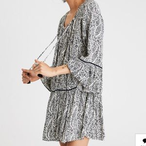 AE Bell Sleeve Lace Up Front Shift Dress